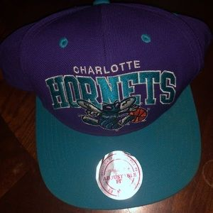 Mitchell and Ness Hornets Snapback Hat
